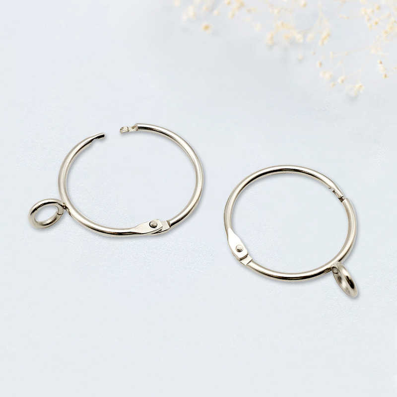 Metal Silver Color Open Curtain Ring Hooks Clips Roman Circle For Ring Curtain Opening Ring Curtain Buckle Hanging Ring QT008-30