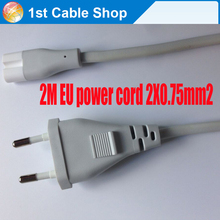 eu power cord 2-prong to figure 8 6ft 1.8m for Mac mini,Cameras,PS2 PS3 Slim etc.