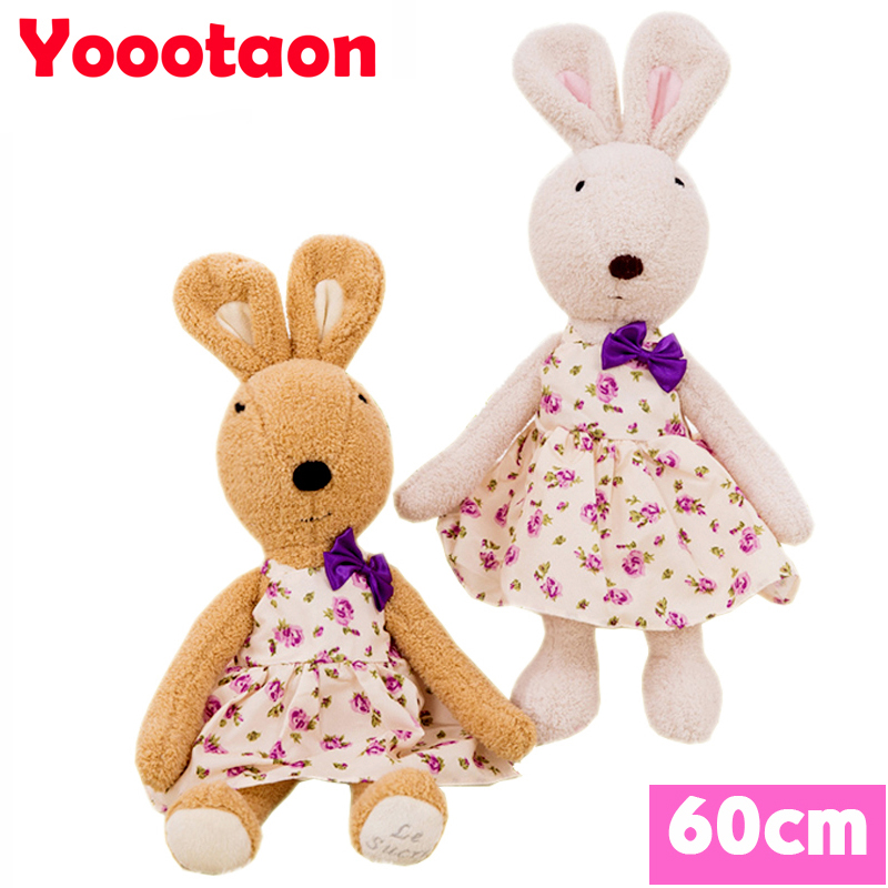 60cm bunny plush kids toys can be take off clothes le sucre rabbit dolls<br><br>Aliexpress