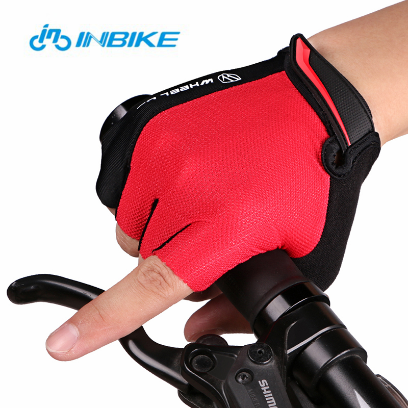 INBIKE Brand 1*Outdoor Cycling Gloves Nylon Half Finger Men Women Summer Breathable Sport Bike Gloves Global Free shipping!