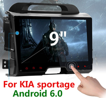 2 Din Radio 9 inch Android 6.0 Car DVD player for Kia Sportage Series 3 2010 2011 2012 2013 2014 2015 2016