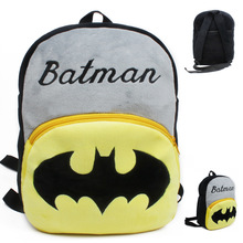 Large size plush cartoon baby Batman school bags children plush schoolbag mini backpack for kindergarten student boys toys(China)