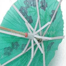 144 Paper Tropical Hawaiian Cocktail Drink Parasol Umbrella