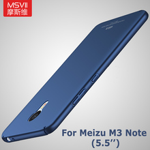 Meizu m3 note pro case Original Msvii Brand Silm scrub cover Meizu M3s Mini case PC scrub Back cover For Meizu m3 s note 3 cases