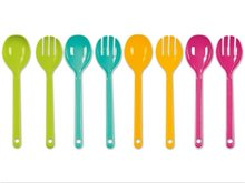 2 piece Cutlery Set Plastic Salad Serving Set Multicolored Spoon and Fork ernesto-salatbesteck-2-teilig