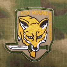 Tan Metal Gear Solid MGS FOX HOUND Special Force Group Embroidered patch B2085