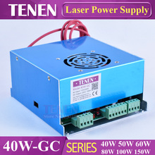 40W-GC CO2 Laser Power Supply 40W 25W 30W 110V 220V High Voltage For Engraving Cutting Machine Laser Tube One Year Warranty(China)