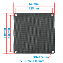 5pcs/lot 14CM Computer Mesh Black PVC PC Case Fan Cooler Dust Filter Dustproof Case Cover,140x140mm(China)