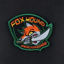 10pcs Fox Hound Patch Embroidery Special Force Group Tactical Patches Hook Loops Military Badge Combat Armband Morale Brassard(China)