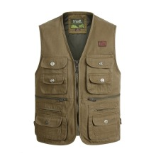 Large Size XL-4XL Tactical Masculine Waistcoat Male Multi Pocket Unloading Sleeveless Vest Photographer Reporter Summer Jacket
