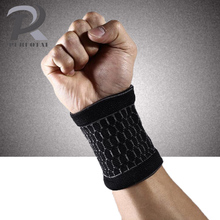 Sports Wristbands Weight Lifting/ Basketball/ Barbell Sport Wrist Protector Black Spandex Breathable Sweatband Wrist Support(China)