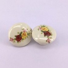 2PCS 38mm Porcelain Ceramic Cabinet Knobs Cupboard Closet Dresser Handles Pulls Kitchen Bedroom furniture handles(China)