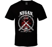 New 2017 Fashion Hot High Quality  Design Crew Neck Negan Lucille The Walking Dead Tv Show Short-Sleeve T Shirts For Men