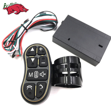 Harbll Steering wheel button remote control lights car navigation DVD/2 din android Bluetooth wireless Universal remote control(China)