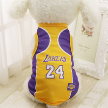 Spring and Summer Fashion Sports Basketball Dog Clothes Costume Chihuahua Pet Dog Clothing Cool Dog Shirt Vest(China)
