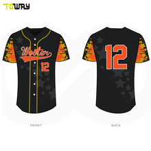 Sublimation Shorts sleeves Colorful Customizer Baseball Jersey