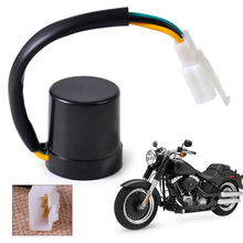 12V DC 3 Pin 3 Wire Round Turn Signal Relay Flasher fit for GY6 50-250cc Motorcycle Moped Scooter ATV New
