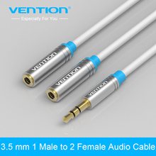 Vention Audio Cable Jack 3.5mm Male to 2 Female Earphone Extension Cable 3.5mm Headphone Splitter Adapter for iphone Laptop