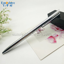 New Slim Business Signature Pen Custom Hotel Advertising Chrome Metal Ballpoint Pen Copper Metal Roller Ball Pen P154