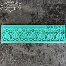 Yueyue Sugarcraft Silicone lace mat fondant mold cake decorating tools chocolate(China)
