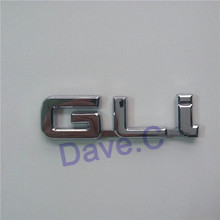 GLi ABS Chrome Emblem Custom Nameplate 3D Letter Sitckers Auto Badge For Car Styling Decal