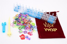 Free Shipping Children Handmade Rubber Looms Band Kit For DIY Charm Bracelets Weaving Frame Bands Hook  Bracelets&Bangles XP012