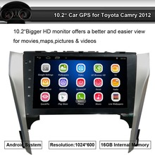 "Double 2 Din 10.2"" Digital Capacitive Touch Screen Car Stereo Radio Player for Toyota Camry 2012 Wifi GPS Bluetooth Mirror Link"