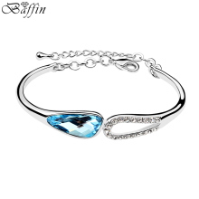 Wholesale Beauty Charm Bracelets Crystals from Swarovski Elegant Austrian Elements Jewelry Lady Romantic Gift