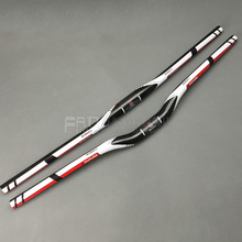 FUTURE brand from taiwan full carbon fiber flat / riser handlebar mtb use 3K finish  31.8*600/620/640/660/680/700mm red