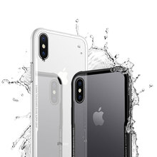 For iPhone X Case Soft TPU+Tempered Glass Clear Back Cover Luxury Phone Cases Slim Full Coverage Cover Case Popular for iPhone X(China)