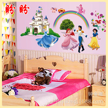 New wall stickers manufacturers selling children cartoon creative fashion wall sticker CC6950 Disney Princess Castle