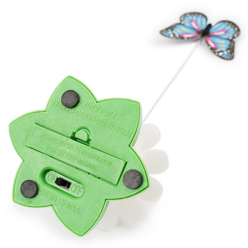 Hot sale Colorful Butterfly Funny dog Cat Toys bird Pet Seat Scratch Toy For Pet dog cats intelligence Training Plastic Cat Toy (4)