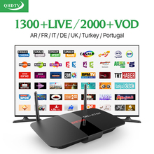 R1 Quad Core Smart Android IPTV HD STB H.265 Set-top Boxes with QHDTV arabic iptv italia subscription 1 year Europe Media Player