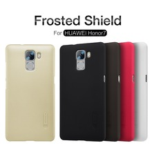 Huawei Honor 7 case cover NILLKIN Super Frosted Shield case for Huawei Honor 7 + free screen protector and Retail package(China)