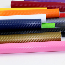 10cmX127cm 3D Carbon Fiber Vinyl Film Wrap Sheet Roll Film Automobiles Motorcycle bicycle car-styling Accessories