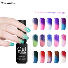 Verntion Gel Lak Set Art Professional Temperature Changing Nail Gel Polish Lucky Thermo Mood Color Nails Salon Gel Varnish