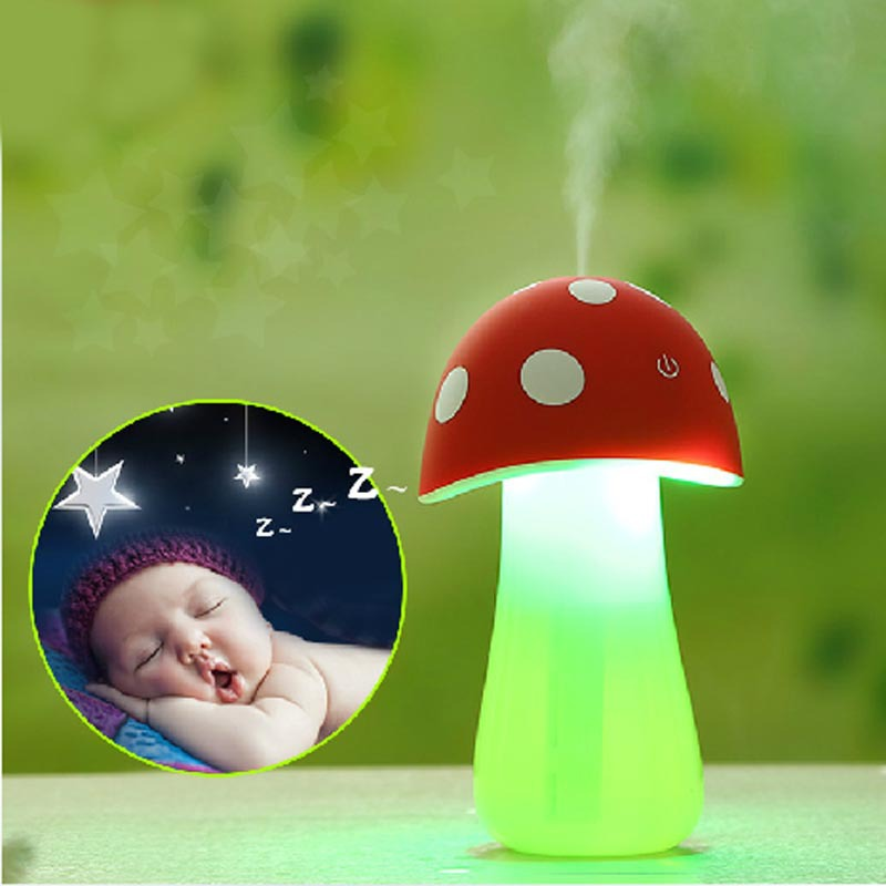 High Quality Portable USB Mini Mist Maker Mushroom Lamp Air Humidifier Purifier For Baby Room Office Car<br><br>Aliexpress