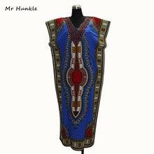 2016 New Fashion Design Traditional African Clothing Print Dashiki Nice Neck Embroidered African Dresses for Women