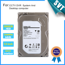 "New 3000gb Seagate 3.5"" inch Hard disk 3TB 7200rpm 64MB SATA Internal HDD for Desktop DVR recorder CCTV system SK-242"