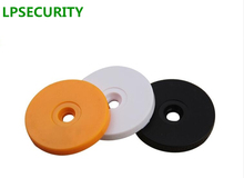 LPSECURITY 50pcs Patrol system checkpoint 125Khz Rfid Tag EM4100 ID Round Coin chip card Access Control Guard Tour Patrol System(China)