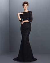 Jark Tozr Newest Listing Three Quarter Sleeve Lace Evening Dress 2017 Robe De Soiree Black China Online Shop Mermaid Formal Gown