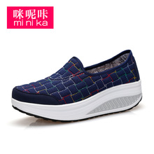 Buy Summer Outdoors Walking Shoes Women Sports Breathable Height Increasing Wedge Sneakers Women's Platform Shoes AA40249 for $24.28 in AliExpress store