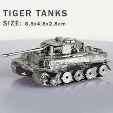 New creative Tanks 3D puzzles 3D metal model Tiger tanks Jigsaws Creative DIY Adult/Children gifts toys Perfect details And many