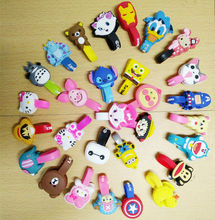 1Pcs Cute Lovely Cartoon Animal Earphone Wrap Cord Cable Holder Winder Organizer