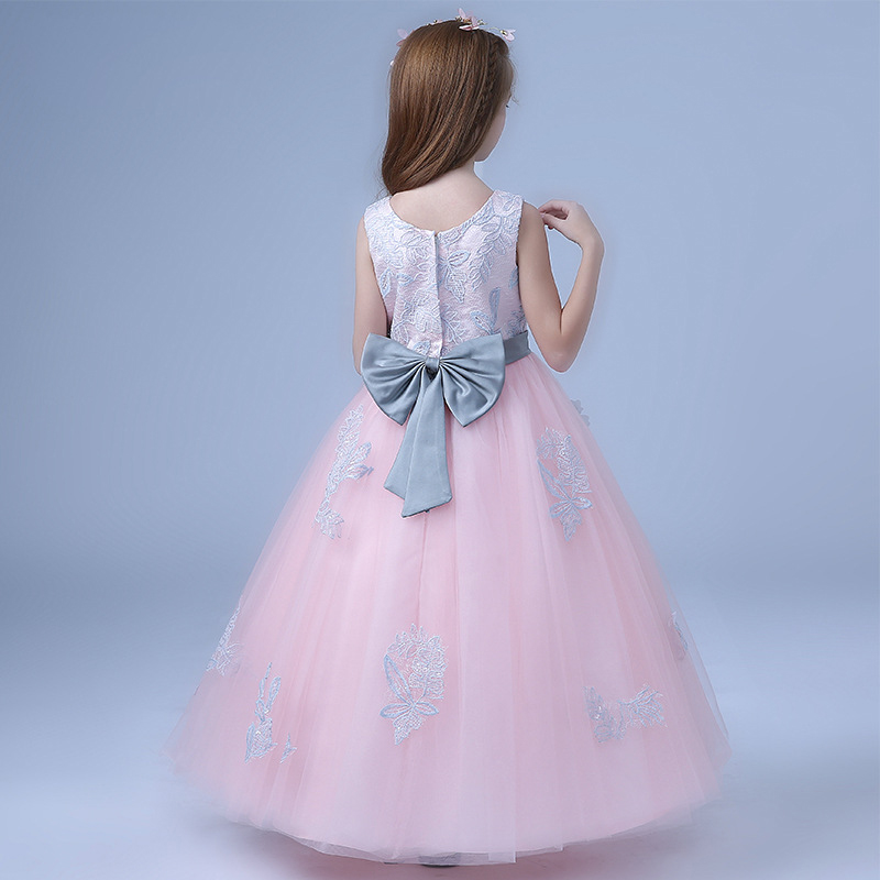 2018-New-Children-s-dress-princess-dresses-for-girls-teenagers-wedding-party-piano-clothing-long-flowers (2)