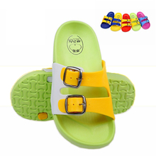 Buy new 2017 fashion buckle baby children's slippers cute cartoon slippers summer boys girls beach slippers home kids shoes for $6.58 in AliExpress store