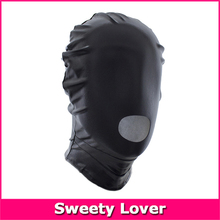 Open Mouth Sex Mask Patent Leather Fetish Bondage Mask Hood Adult Games Sex Toys for Couples Adult Erotic Products Black Red