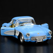 High Simulation Exquisite Diecasts&Toy Vehicles: KiNSMART Car Styling 1957 Corvette Vintage Car 1:34 Alloy Diecast Model Toy Car