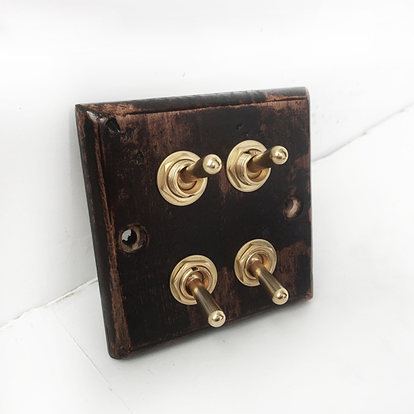 Wood Retro   Wall  Switch panel Four Control  Two  Way   6A  110V- 250V<br><br>Aliexpress