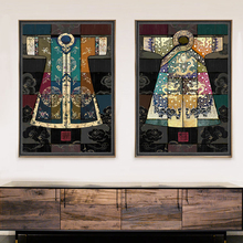 Chinese classical culture and the arts robes antique collage Canvas Wall Art Home Decoration living room duvar tablolar picture(China)
